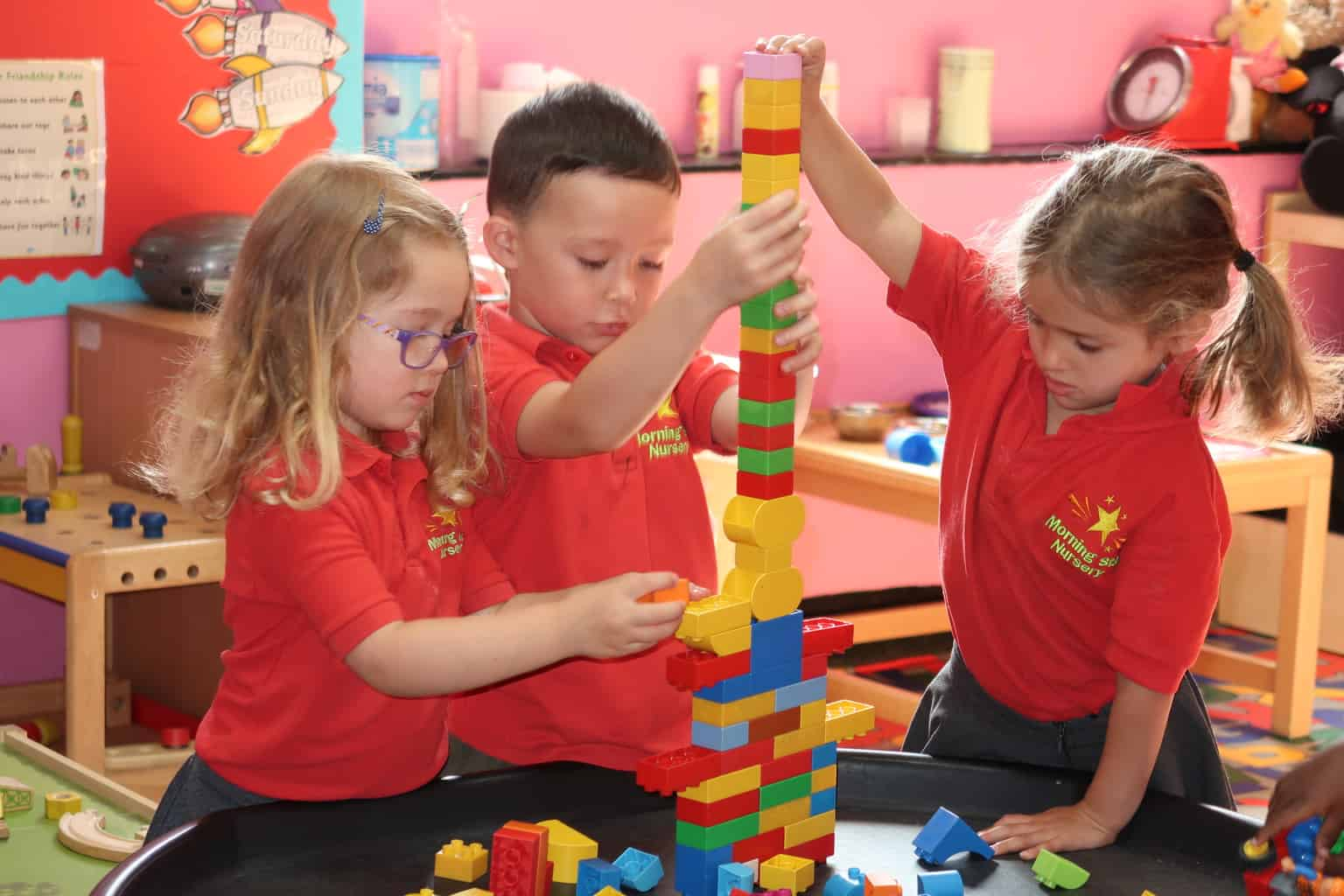 Morning Star Nursery Students Playing